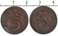 Изображение Монеты Нидерланды 5 центов 1948 Бронза VF