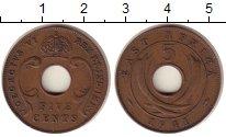 Изображение Монеты Восточная Африка 5 центов 1941 Бронза XF Георг VI