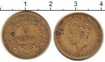 Изображение Монеты Западная Африка 6 пенсов 1947 Латунь VF