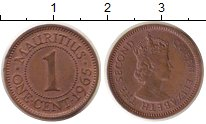 Изображение Монеты Маврикий 1 цент 1965 Бронза UNC-
