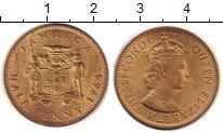 Изображение Монеты Ямайка 1/2 пенни 1964 Латунь UNC-