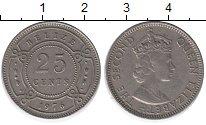 Изображение Монеты Белиз 25 центов 1976 Медно-никель XF