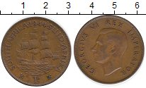 Изображение Монеты ЮАР 1 пенни 1944 Бронза XF