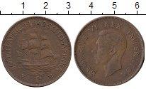 Изображение Монеты ЮАР 1 пенни 1942 Бронза