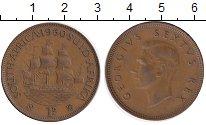 Изображение Монеты ЮАР 1 пенни 1950 Бронза XF
