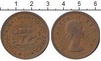 Изображение Монеты ЮАР 1 пенни 1959 Бронза XF