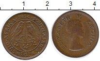 Изображение Монеты ЮАР 1/4 пенни 1954 Бронза