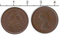 Изображение Монеты ЮАР 1/4 пенни 1955 Бронза XF