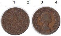 Изображение Монеты ЮАР 1/4 пенни 1953 Бронза XF