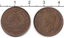 Изображение Монеты ЮАР 1/4 пенни 1946 Бронза XF