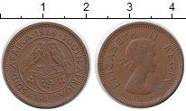 Изображение Монеты ЮАР 1/4 пенни 1958 Бронза XF