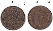 Изображение Монеты ЮАР 1/4 пенни 1943 Бронза XF