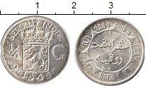 Изображение Монеты Нидерландская Индия 1/4 гульдена 1945 Серебро UNC-