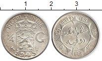 Изображение Монеты Нидерланды Нидерландская Индия 1/4 гульдена 1945 Серебро UNC-