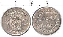 Изображение Монеты Нидерланды Нидерландская Индия 1/4 гульдена 1941 Серебро UNC-