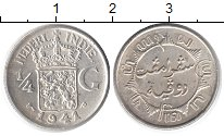 Изображение Монеты Нидерландская Индия 1/4 гульдена 1941 Серебро UNC-