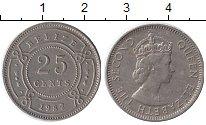 Изображение Монеты Белиз 25 центов 1987 Медно-никель XF