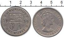Изображение Монеты Маврикий 1 рупия 1956 Медно-никель XF