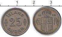 Изображение Монеты Исландия 25 аурар 1940 Медно-никель XF
