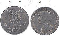 Изображение Монеты Албания 2 лека 1939 Железо XF Виктор  Эммануил III