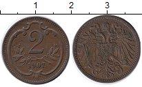 Изображение Монеты Австрия 2 хеллера 1907 Бронза XF