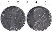 Изображение Монеты Ватикан 100 лир 1956 Сталь UNC-