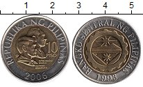 Изображение Монеты Филиппины 10 песо 2006 Биметалл UNC-