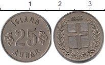Изображение Монеты Исландия 25 аурар 1946 Медно-никель XF