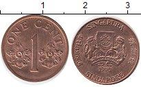 Изображение Монеты Сингапур 1 цент 1990 Бронза UNC-