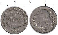 Изображение Монеты Колумбия 10 сентаво 1956 Медно-никель VF