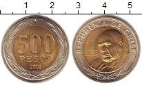 Изображение Монеты Чили 500 песо 2002 Биметалл UNC-