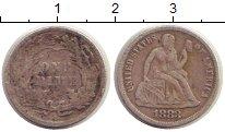Изображение Монеты США 1 дайм 1883 Серебро VF