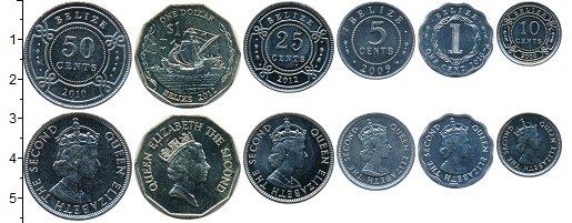 Изображение Наборы монет Белиз Белиз 1991-2007 1991  UNC В наборе 6 монет ном