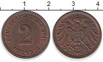 Изображение Монеты Германия 2 пфеннига 1912 Бронза XF