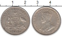 Изображение Монеты Австралия 1 шиллинг 1912 Серебро XF Георг V.