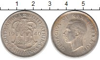 Изображение Монеты ЮАР 2 шиллинга 1940 Серебро XF