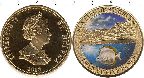 Картинка Монеты Остров Святой Елены 25 пенсов Медно-никель 2013