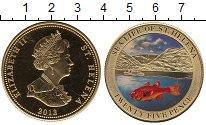 Изображение Монеты Великобритания Остров Святой Елены 25 пенсов 2013 Медно-никель UNC