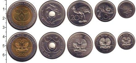 Изображение Наборы монет Папуа-Новая Гвинея Папуа-Новая Гвинея 2007-2010 0  UNC В наборе 5 монет ном