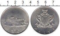Изображение Монеты Мальта 2 фунта 1972 Серебро UNC