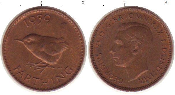 Картинка Монеты Великобритания 1 фартинг Бронза 1939