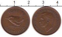 Изображение Монеты Великобритания 1 фартинг 1941 Бронза XF