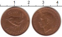 Изображение Монеты Великобритания 1 фартинг 1946 Бронза XF