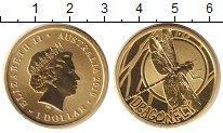 Изображение Монеты Австралия 1 доллар 2010 Латунь Proof