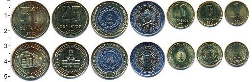 Изображение Наборы монет Аргентина Аргентина 1991-2011 0  UNC-
