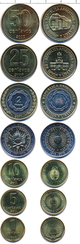 Картинка Наборы монет Аргентина Аргентина 1991-2011  0
