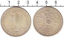 Изображение Монеты ФРГ 10 марок 1989 Серебро UNC- 40 лет ФРГ