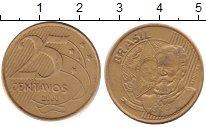 Изображение Барахолка Бразилия 25 сентаво 2000 Латунь XF