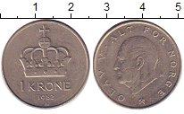 Изображение Дешевые монеты Норвегия 1 крона 1982 Медно-никель XF-