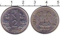Изображение Барахолка Индия 2 рупии 2012 Алюминий XF-